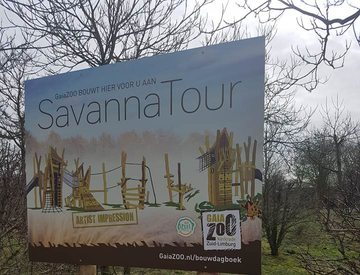 Bouwbord SavannaTour → artist impression